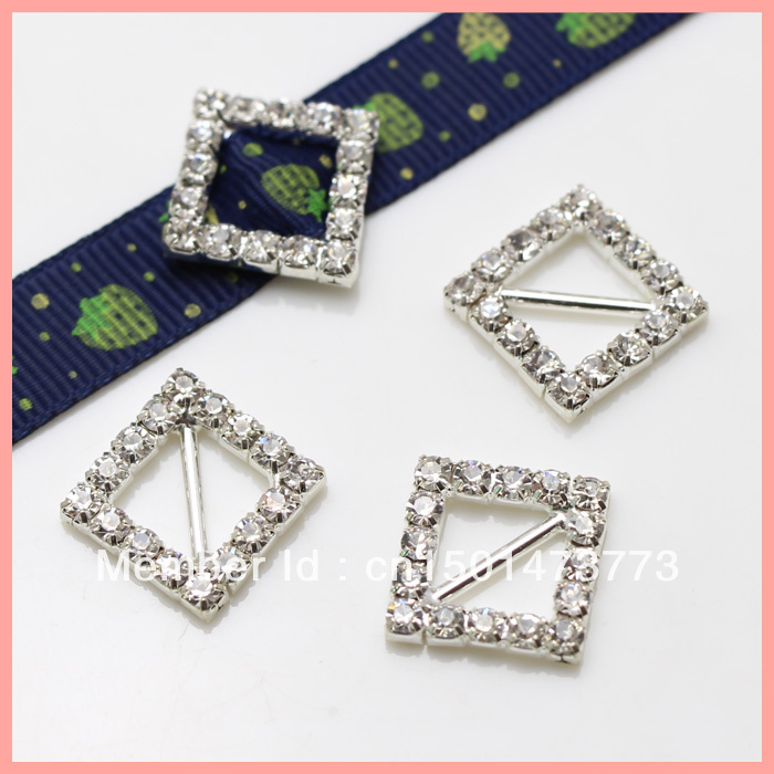 Silver Ribbon Rhinestone Slider Buckle100pcs15mm Belt Buckle For Wedding Invitations Card Paracord Bracelet Hair Accessories In Buckles Hooks From Home