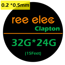 REE ELEC 5m/roll 32G*24G(0.2mm*0.5mm) Clapton Wire RDA Atomizer Heating Wires Premade Coil Tool Electronic Cigarette Accessories