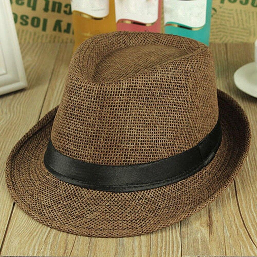 5c792794e2cd7 2016 Hot venta de moda sombrero hombres mujeres moda Jazz sombreros parejas  san valentín visera del sombrero de Sun regalo turística sombrero de playa  día ...