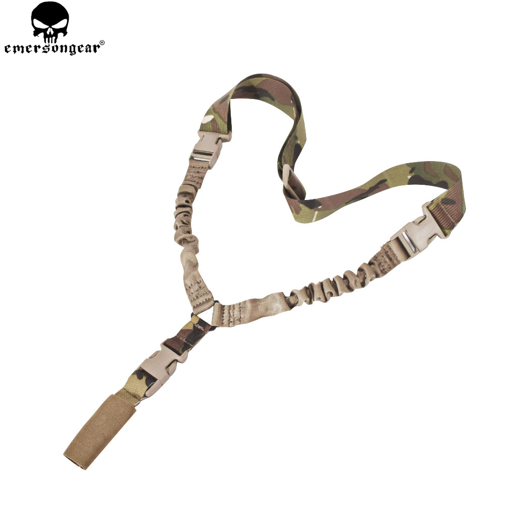 EMERSONGEAR Tactical Gun Sling LQE One Point Sling with Mash Hook Rifle Sling Multicam ACU Black EM8489EMERSONGEAR Tactical Gun Sling LQE One Point Sling with Mash Hook Rifle Sling Multicam ACU Black EM8489