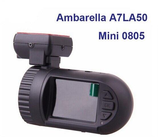 Free Shipping Original Mini 0805 Dashboard Car DVR Camera Ambarella A7LA50D Super HD 1296P 30FPS Optional