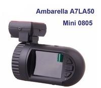 Free Shipping!!Original Mini 0805 Dashboard Car DVR Camera Ambarella A7LA50D Super HD 1296P 30FPS Optional GPS Smart Dash Cam