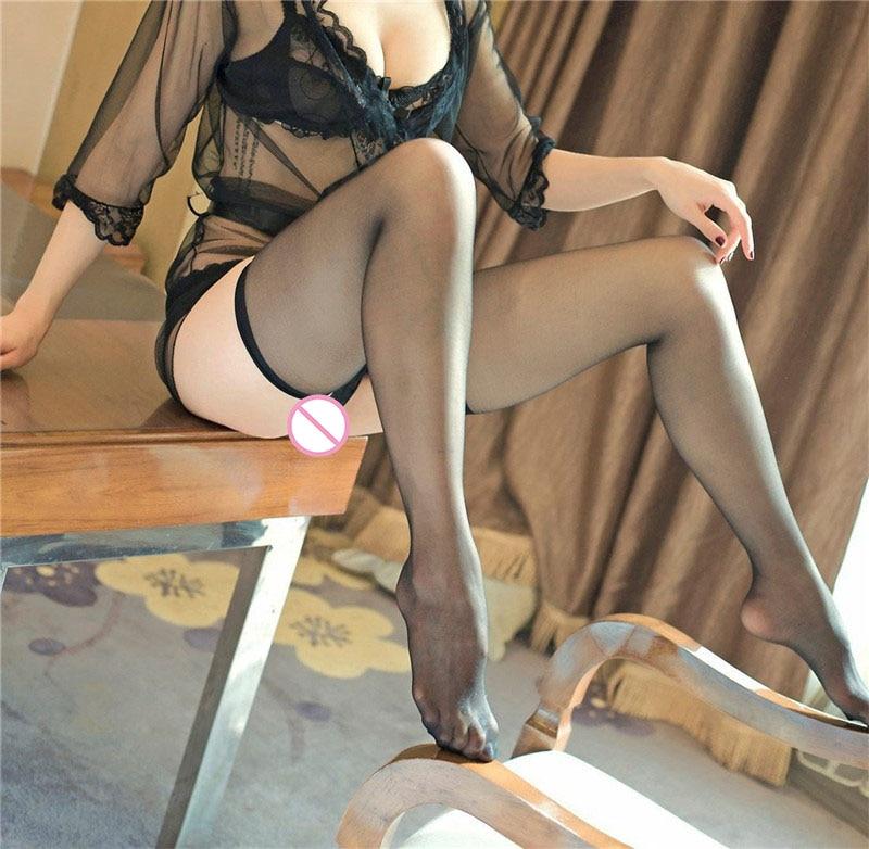 Summer Sexy Stockings Women Lace Babydoll Thin Section Transparent Elastic Underwear Nightwear Thin Solid Stocking Fantazi Seks