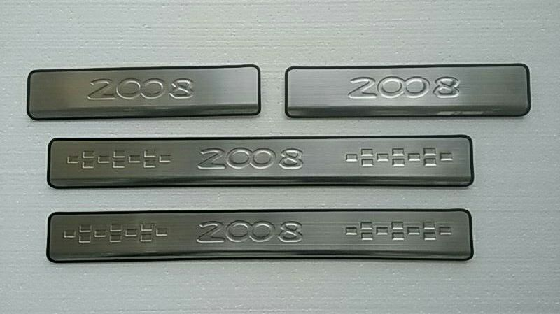 High quality stainless steel Scuff Plate/Door Sill for 2014 Peugeot 2008