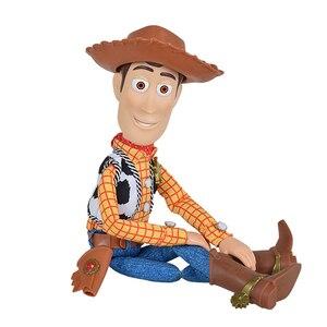 Image 4 - דיסני פיקסאר צעצוע של סיפור 3 4 מדבר וודי ג סי פעולה דמויות בד גוף דגם בובת מוגבלת אוסף צעצועי מתנות ילדים