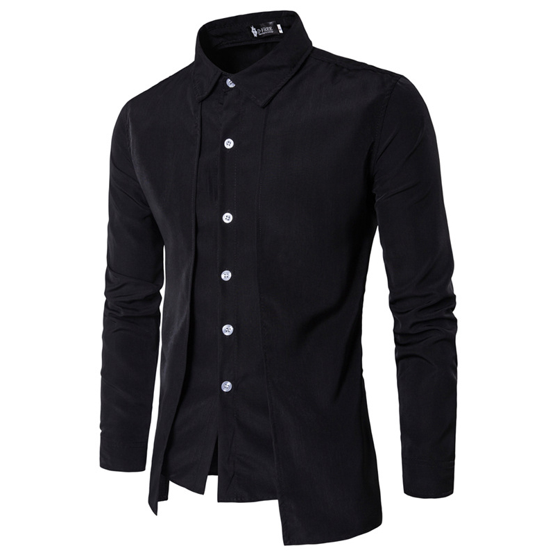 4a6a003964b 2019 New Stylish Mens Formal Shirt Long Sleeve Slim Fit Solid Shirts ...