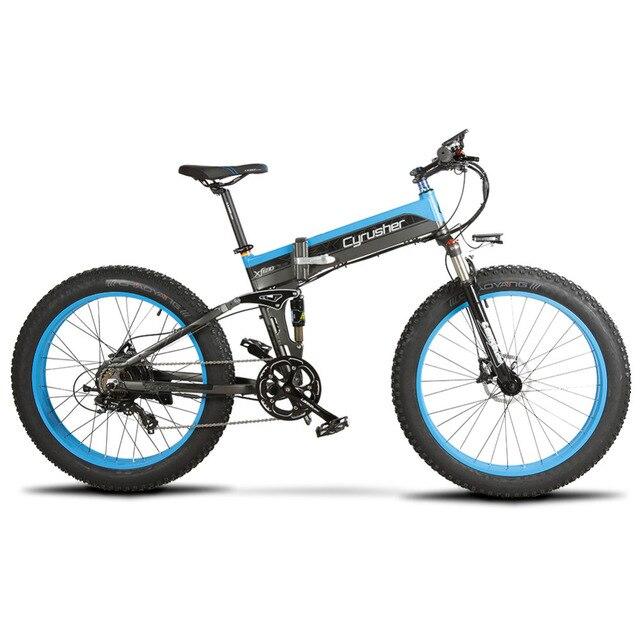 Cyrusher Ebike 500 В Вт 48 В 10AH XF690 складной Fat tire велосипед полностью подвесная рама 7 скоростей электрические велосипеды