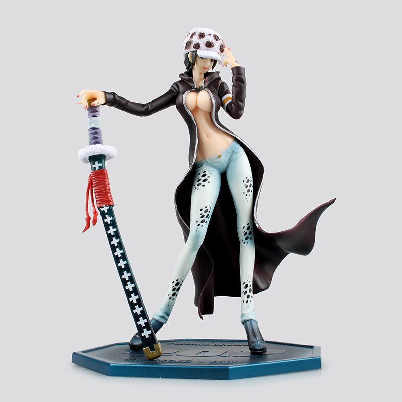 Anime One Piece 22cm Female POP Trafalgar Law PVC Figure Toy PVC Action Figure Collection Model Toy anime one piece arrogance law fight frame model garage kit pvc action figure classic collection toy doll