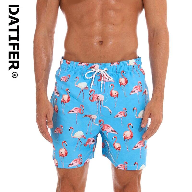 DATIFER ES4W Men   Board     Shorts   Quick Dry Swimsuit 2019 Plus Size XXXL Beach Wear Briefs For Men Swimwear Size Surf   Shorts
