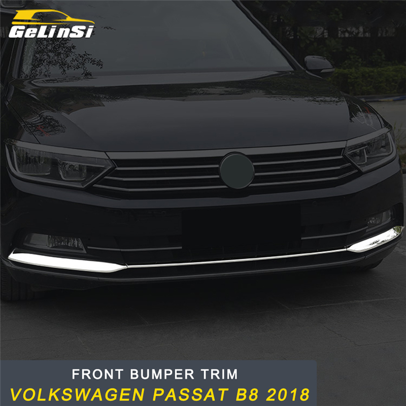 GELINSI Front Hood Bumper Fender Fog Light Cover Frame Sticker Exterior Accessories For Volkswagen Passat B8 2018 Car Styling