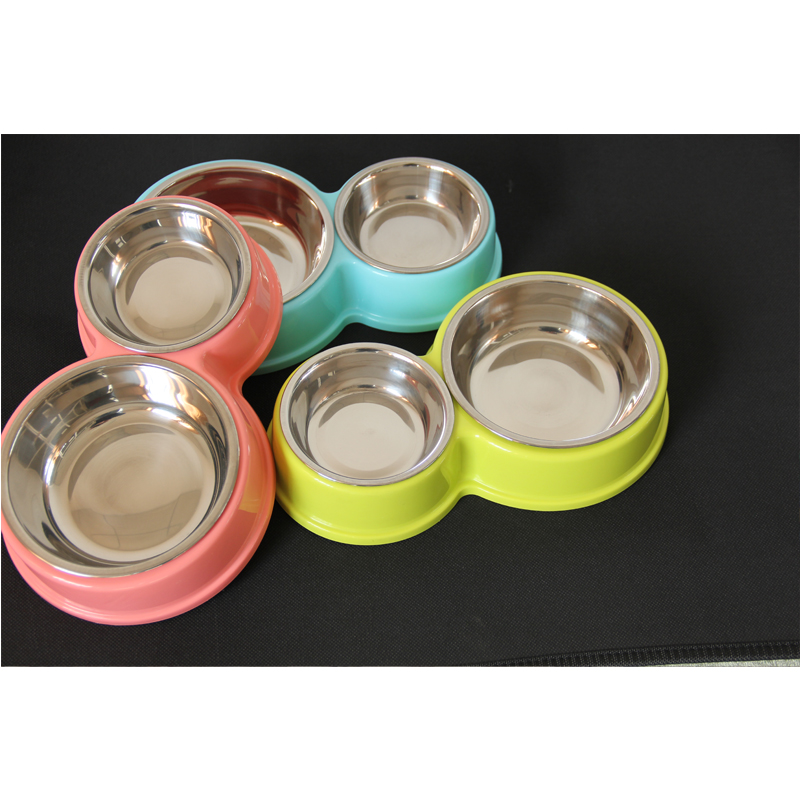 Stainless Steel Pet Dog Bowls Double Puppy Cats Eating Feeder Container  Drinking Bowl Anti-slip Pet Feeding & Watering Dish #6