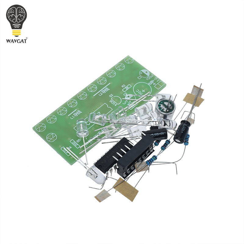 Voice activated LED Water Light Kit CD4017 Lantern Control Fun Electronic Production Teaching Training Diy Electronic Kit Module