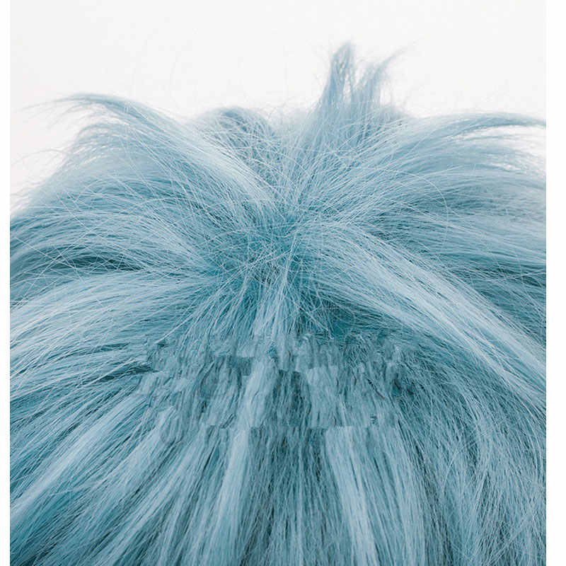 Аниме Новый мой герой Академии сигараки Tomura костюмы косплей играть синие волосы, парики для мужчин Хэллоуин Необычные Бал костюмы Головные уборы