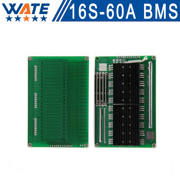 Free shipping 16S 60 V or 67.2 V lithium-ion battery System BMS with constant current job for li-ion 60A big energy rate 10s 36v li ion lithium cell 40a 18650 battery protection bms pcb board balance r179t drop shipping