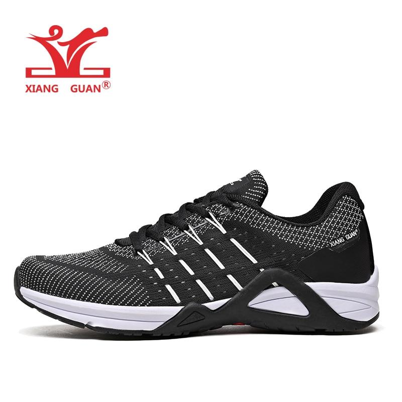 XIANG GUAN Man Running Shoes For Men 2018 Nice Athletic Trainers Black White Sport Shoe Outdoor Walking Sneakers Free Shipping 7