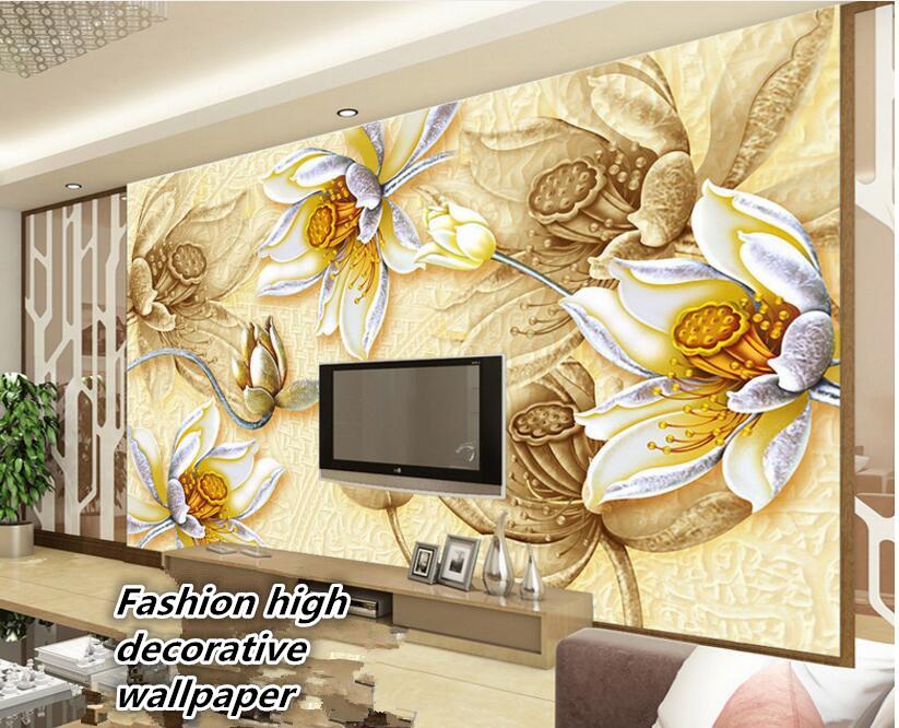 beibehang Custom Made Large Aesthetic Decorative Wallpaper Embossed ...