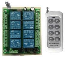 DC 12 โวลต์ 24 โวลต์ 8 ช่อง CH 8CH RF รีโมทคอนโทรลไร้สายรีโมทคอนโทรลระบบเครื่องรับสัญญาณ 8CH รีเลย์ 315/433 MHz