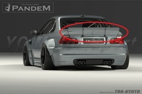 Car Accessories FRP Fiber Glass Pandem Style Rear Spoiler Fit For 1998 2005 E46 3 Series & M3 Coupe Trunk Spoiler Wing