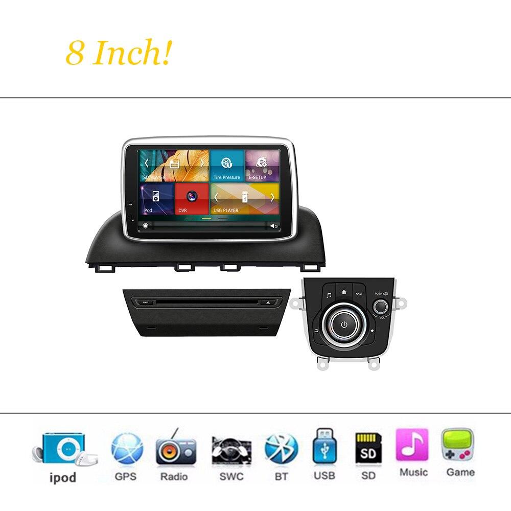Sistema Reproductor de DVD del coche Para Mazda 3 Autoradio Car Stereo Radio Nav