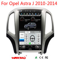 Wekeao 14.1 Vertical Screen Tesla Style Car Radio Player For Opel Astra J 2010 2014 Car GPS Navigation 4G Android 7.0.1 4K HD