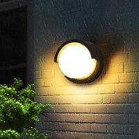 12W LED Wall Light Waterproof IP66 Porch Light Modern LED Wall Lamp Corridor Porch Courtyard Garden Outdoor Light AC90~260V
