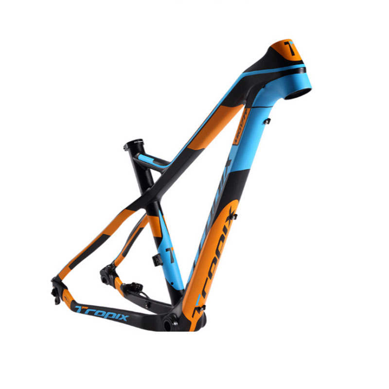 Tropix Carbon Mountain Bike Frame 27.5er 142mm*12mm Thru Axle Bicycle Frame T800 Carbon Fibre 15 17inch Bb90 650B MTB Xc 2019new