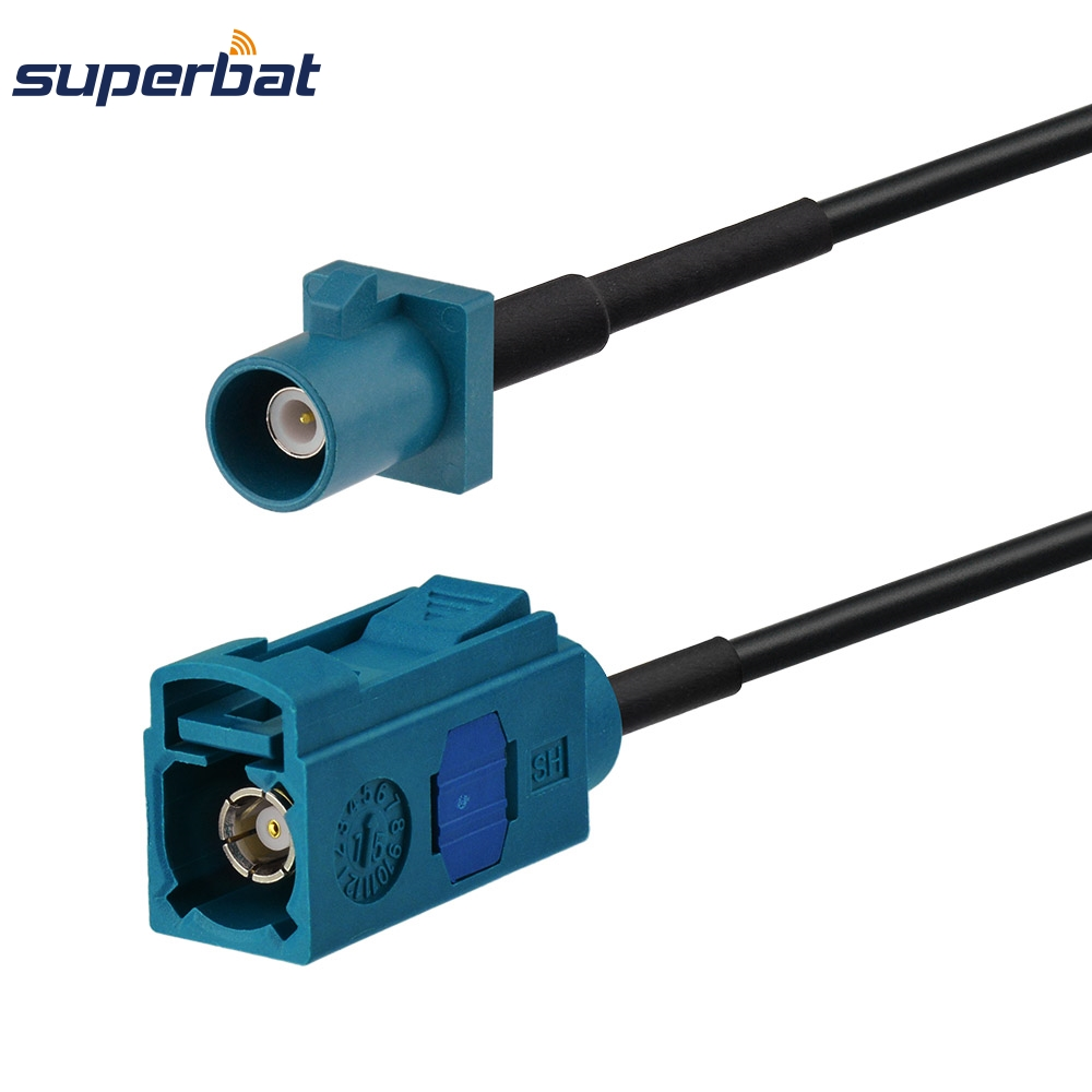Superbat 3 Ft Wireless Fakra Female Jack Connetor To Fakra Male Plug Straight Plug RG174