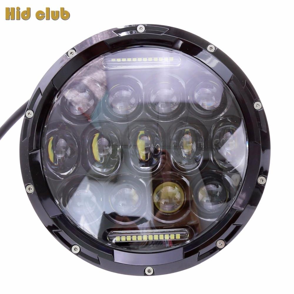 7 inch 75W Round LED Headlight 7500LM Hi Low Beam Head font b Light b font
