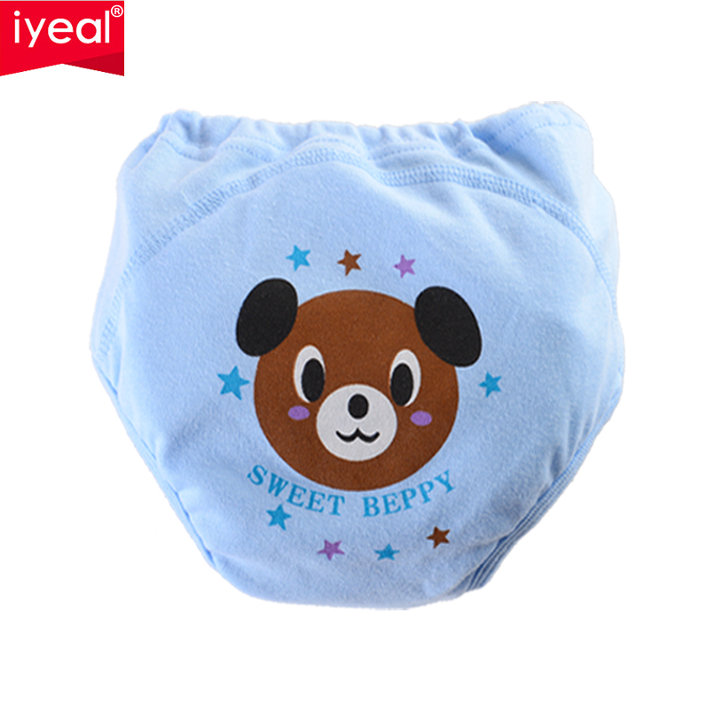 IYEAL Reusable Nappies Training Pants 4 Layers Baby Shorts Underwear Waterproof Cotton Potty Infant Urinate Pants 4 Pieces/lot