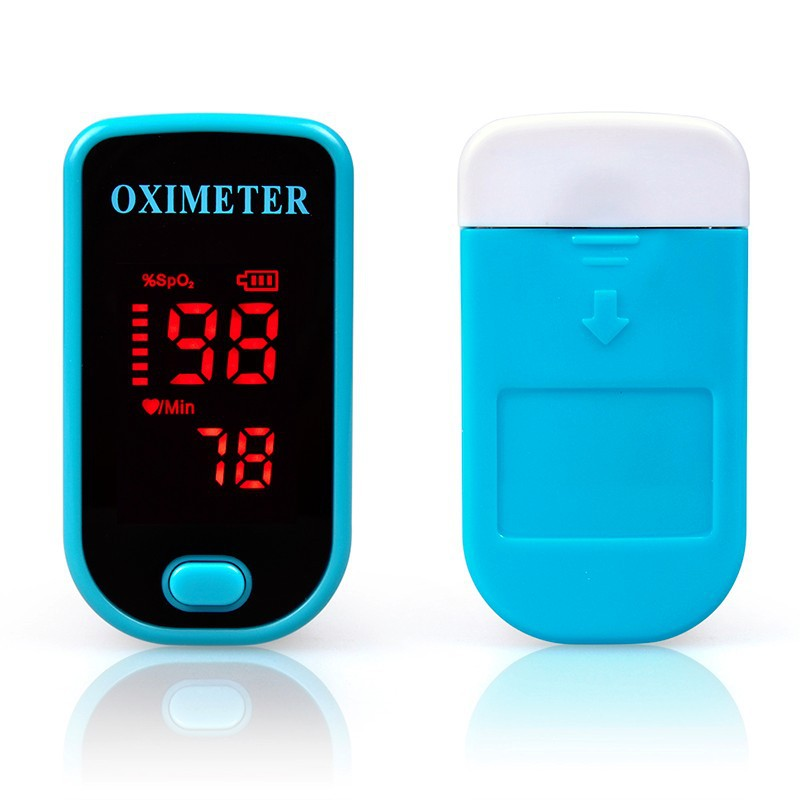 The nail pulse oximeter uses the oxygen saturation monitor to indicate the pulse oxygen heart rate meter