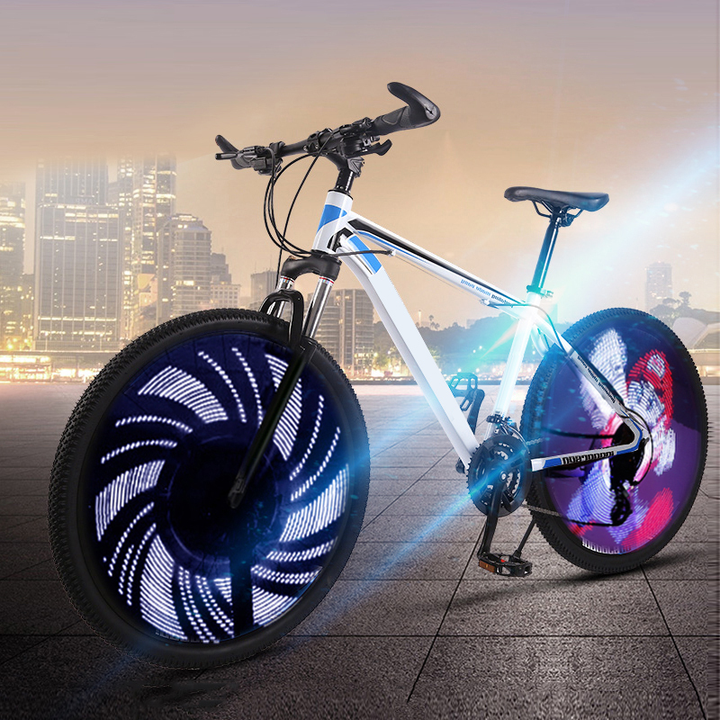 Flash Bike Tire Valve Colorful Double-sided LED Flash Spoke Wheel Light Safety