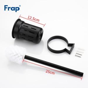 Image 5 - Frap accesorios de baño para montar en la pared, escobilla de baño de aluminio, espacio negro, accesorios de baño para limpiar, Y18053