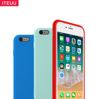 ITEUU 6 6S Liquid Silicone Candy Matte Case For Apple Iphone 6 6S Cases Soft Back
