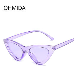 OHMIDA, модные, дешевые, кошачий глаз, солнцезащитные очки, женские, 2018, фиолетовые, зеркальные, солнцезащитные очки для женщин, Ретро стиль, Рет...