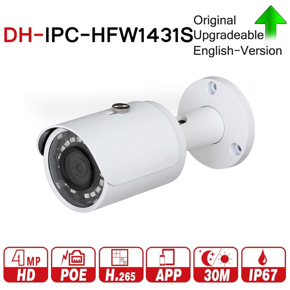 DH 4mp пуля Камера IPC-HFW1431S WDR день/ночь инфракрасный CCTV POE Камера Поддержка IP67 Водонепроницаемый безопасности Камера Системы