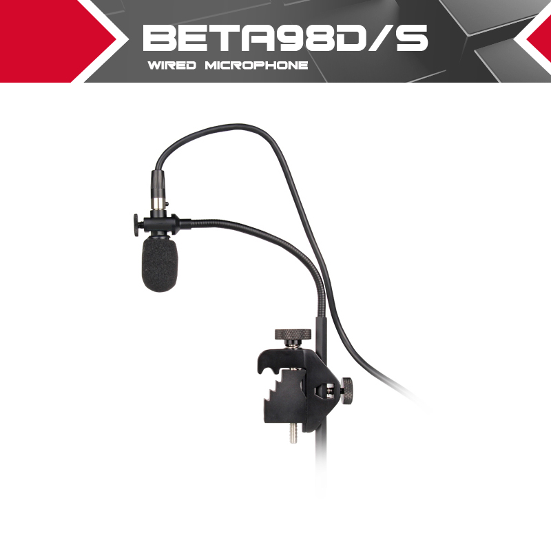 Top quality!!!Performance Drum and Instrument Microphone  BETA 98D/S or BETA 98S SUPERCARDIOID CONDENSER MIC with 3 pin cable