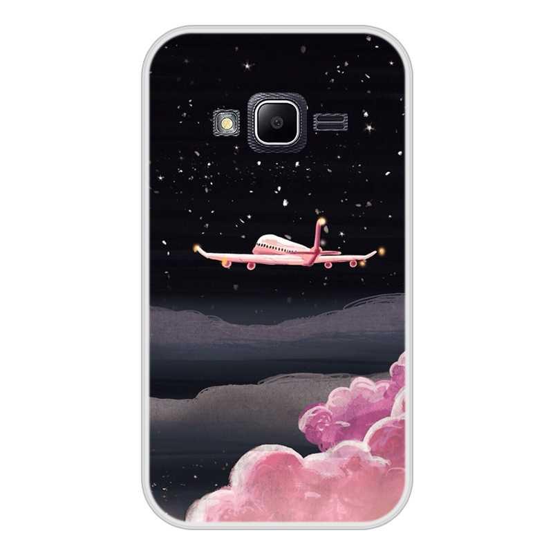 Per il caso di Samsung Galaxy J1 mini prime Molle Del Silicone di TPU Patterned Stampa Della Copertura Del Telefono per Samsung J1 mini prime Caso copertura
