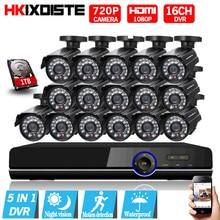 Sistema de CCTV 16ch Sistema de Cámaras de seguridad 1080 P 16×720 P 1.0MP Cámara CCTV Cámara de Vigilancia Kit Sistema de Camaras Seguridad Hogar