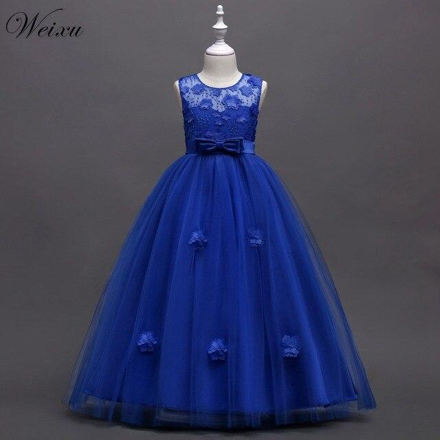 ce97a5f21 Weixu New Baby Girl Ball Gown Dress Children Flower Wedding Dress Kids  Anniversary Party Princess Dresses
