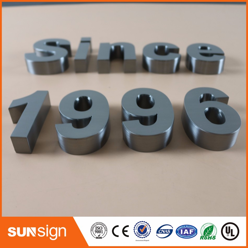 100% Manufacturer Competitive Price 3D Stainless Steel Letter Sign