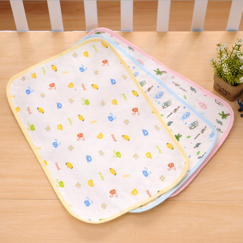 Kids Newbown Cartoon Printed Reusable Nappy Cotton Diapers Mattress Waterproof Sheet Changing Mat Cotton Baby Crib Pad Mother & Kids Changing Pads & Covers