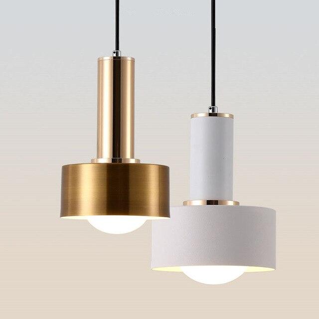 4 Pcs/lot blanc couleur nordique personnalité Bar pendentif lumière café Restaurant étude Macarons décoration lampe livraison gratuite