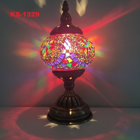 turco mosaico lampada de mesa mediterraneo arte
