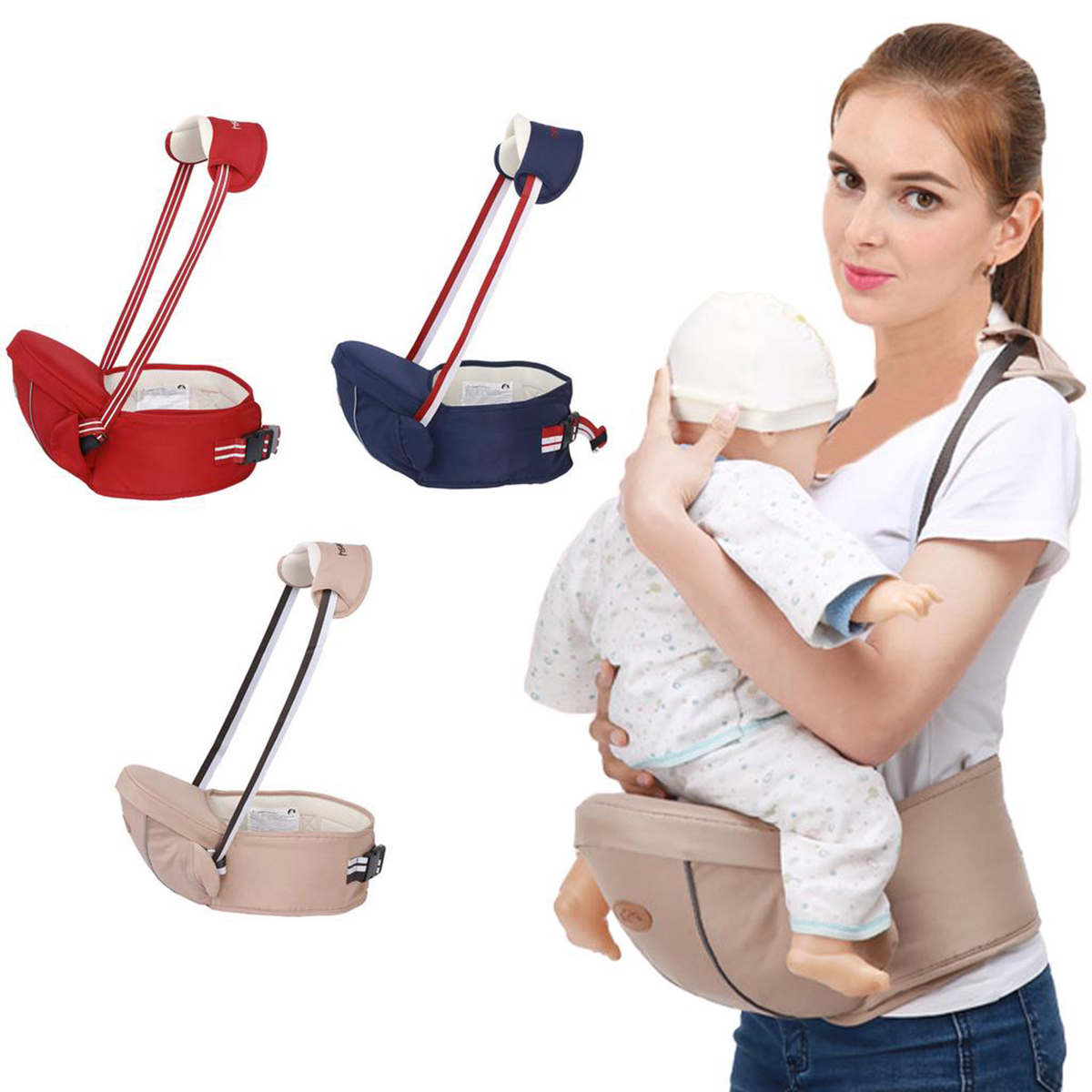 2019 Baby Carrier Waist Stool Walkers Baby Hip Seat Baby Carrier Toddler Waist Stool Seat Infant Sling Hold Waist Belt Hipseat