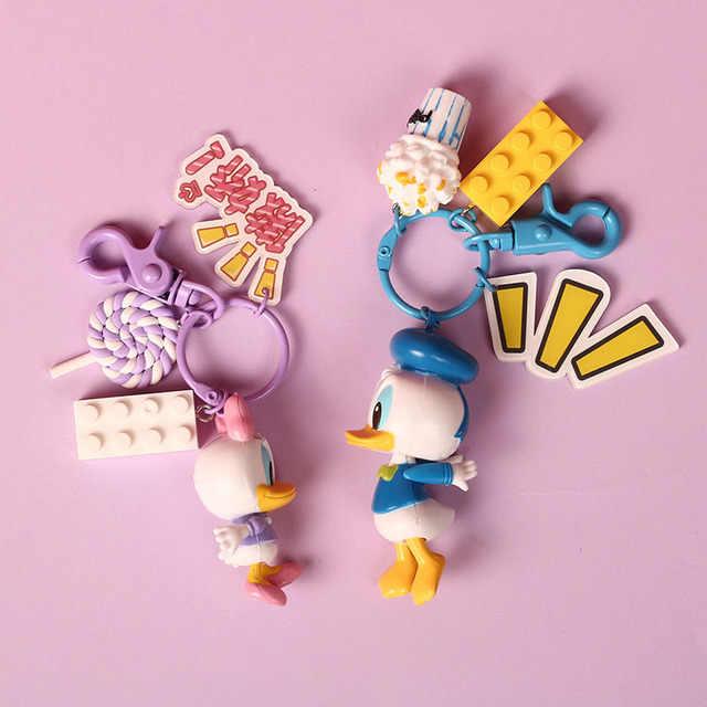 2019 Hot New Donald Duck Vài Phim Hoạt Hình Móc Chìa Khóa Hình Morty Keyring dễ thương Đồ Chơi Keychain Keyholder Quà Tặng Sinh Nhật Unisex MỚI