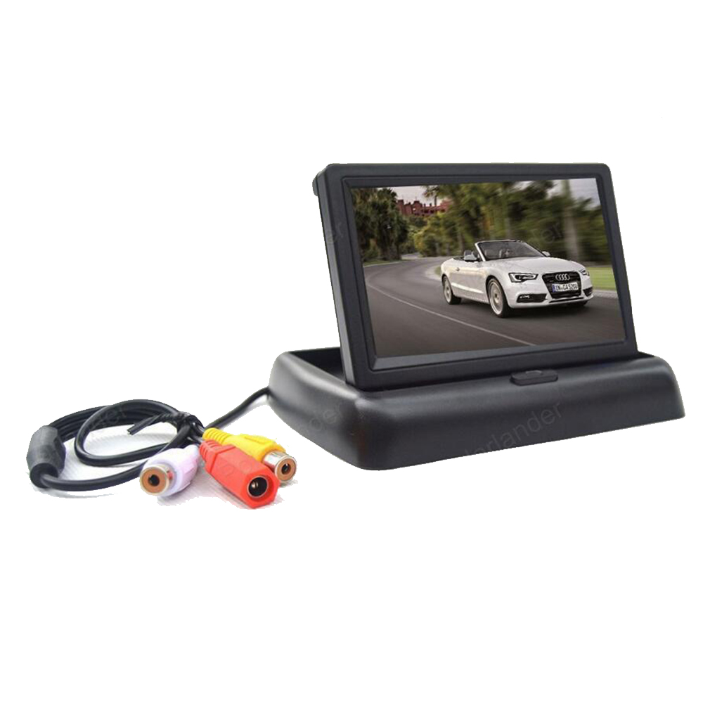 4.3 inch Foldable Car Rear View Monitor 2 CH video input LCD TFT Display for Backup Rearview Reversing Camera DVD VCD