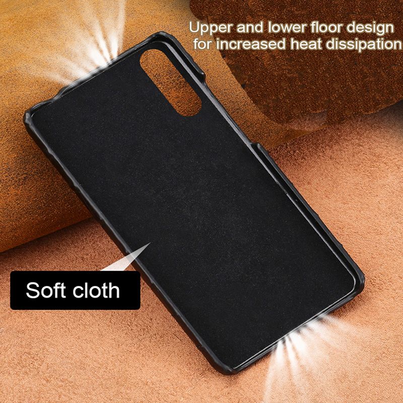 For huawei p20 lite case High end natural Crocodile skin shockproof phone case for huawei P30 P30 Pro High end protective case - 3