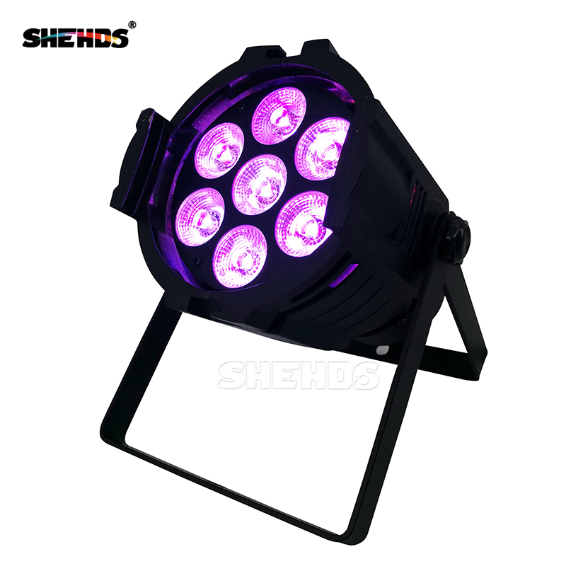 10pcs Mini Aluminum alloy LED Stage Lighting 7x18W RGBWA+UV 6in1 Professional DMX512 For Disco DJ Music Party KTV Nightclub moving head led wash stage lighting 7x18w rgbwa uv 6in1 birthday dmx512 for disco dj music party ktv nightclub lights