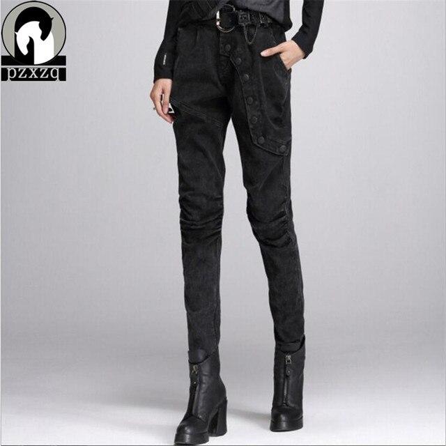 2019 Casual Women Legging Trousers Elastic Waist Warm Thicken Winter Leggings Slim Pencil Pants Fashion Leggins Jeans Plus Size