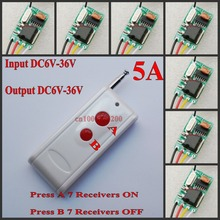 DC 6V 7.4V 9V 12V 13V 14V 16V 18V 24V 28V 36V Wide Working Voltage Remote Control Switch Car battery car light remote on off